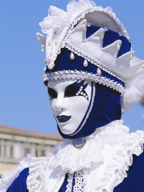 Person Wearing Masked Carnival Costume, Venice Carnival, Venice, Veneto, Italy by Bruno Morandi