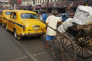 Rickshaw on the Street, Kolkata, West Bengal, India, Asia by Bruno Morandi
