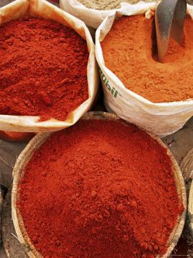 Spices, Tinerhir Souk, Ouarzazate Region, Morocco, North Africa, Africa by Bruno Morandi