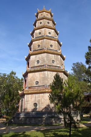 Thien Mu Pagoda, Hue, Vietnam, Indochina, Southeast Asia, Asia by Bruno Morandi