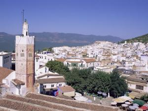 Town of Chefchaouen (Chaouen), Rif Mountain Region, Morocco, North Africa, Africa by Bruno Morandi