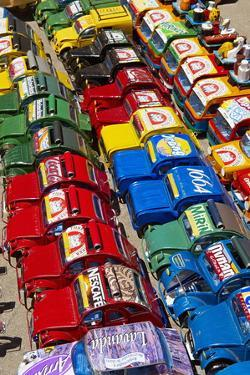 Toy Cars Made with Metal Food Box and Sold on the National 7 Road, Madagascar, Africa by Bruno Morandi
