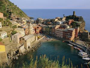 Vernazza, Cinque Terre, Liguria, Italy, Europe by Bruno Morandi