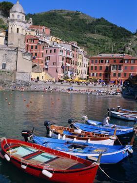 Vernazza, Cinque Terre, Unesco World Heritage Site, Italian Riviera, Liguria, Italy by Bruno Morandi