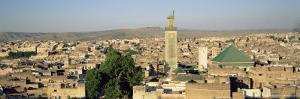 View of Skyline of the Medina, Unesco World Heritage Site, Fez (Fes), Morocco, North Africa, Africa by Bruno Morandi