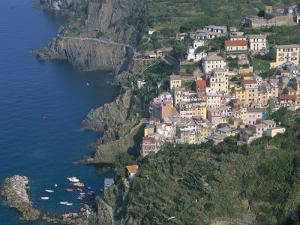Village of Riomaggiore, Cinque Terre, Unesco World Heritage Site, Liguria, Italy by Bruno Morandi