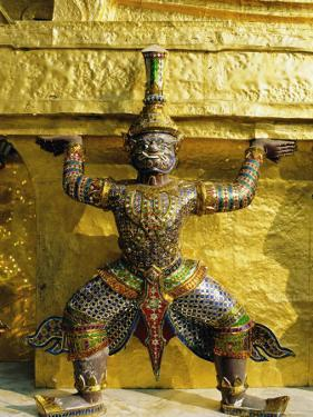 Wat Phra Kaeo, Temple of the Emerald Buddha, Grand Palace, Bangkok, Thailand by Bruno Morandi