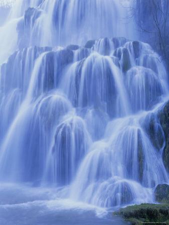 Waterfall, Les Messieurs, Jura-Baume, Franche-Comte, France, Europe by Bruno Morandi