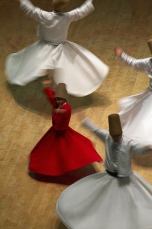 Whirling Dervishes at the Dervishes Festival, Konya, Central Anatolia, Turkey, Asia Minor, Eurasia by Bruno Morandi