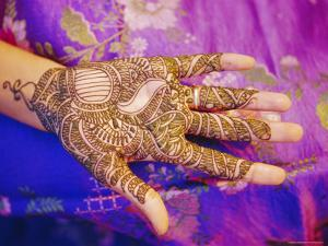 Woman's Hand Decorated with Henna, Rajasthan, India by Bruno Morandi
