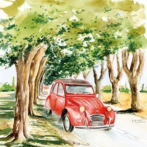 2CV Rouge by Bruno Pozzo