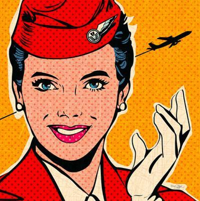 Flight attendant red by Bruno Pozzo