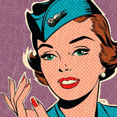 Flight attendant turquoise by Bruno Pozzo