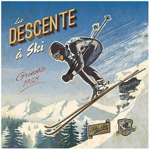 Ski descente by Bruno Pozzo
