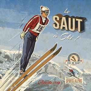 Ski saut by Bruno Pozzo