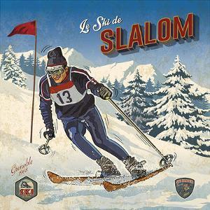 Ski slalom by Bruno Pozzo