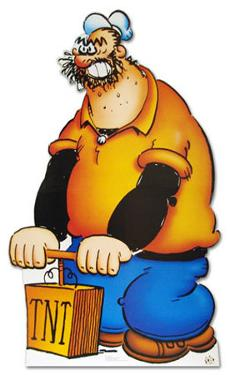 Brutus (Popeye) Cartoon Lifesize Cardboard Cutout