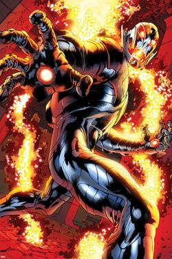 Avengers No.12.1: Ultron Running by Bryan Hitch