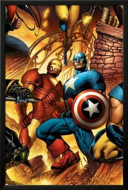 New Avengers No.6 Cover: Iron Man and Captain America by Bryan Hitch