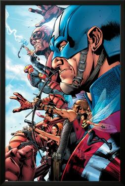 The Ultimates 2 No.1 Cover: Captain America by Bryan Hitch