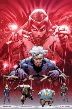 Ultimate Fallout No.5 Cover: Witch, Quicksilver, Sabretooth, Blob, and Mystique by Bryan Hitch