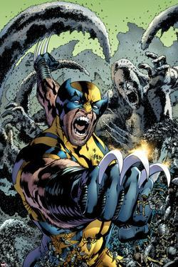Wolverine: The Best There is No.10 Cover: Wolverine Screaming and Fighting by Bryan Hitch