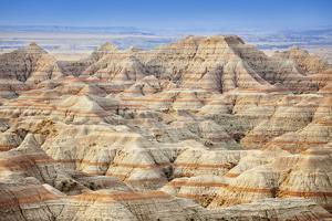 Usa, South Dakota, Badlands National Park, Beautiful ''Striped'' Rock Formation by Bryan Mullennix