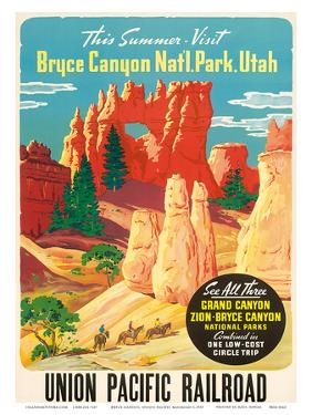 Bryce Canyon, Union Pacific Railroad c.1935