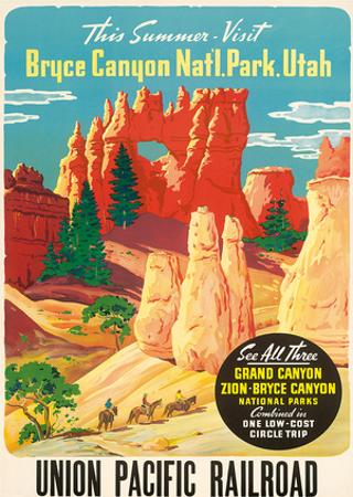 Bryce Canyon, Union Pacific Railroad c.1935