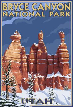 Bryce National Park, Utah, Winter Scene