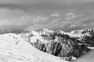 Black and White Snowy Mountains by BSANI