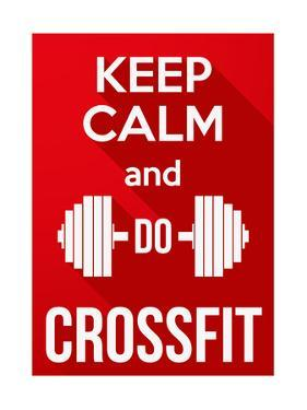 Flat Design Keep Calm and Do Crossfit by BTRSELLER