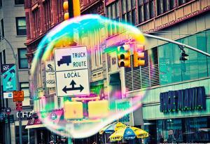 Bubble Floating in NYC