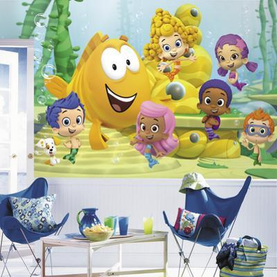 Bubble Guppies XL Chair Rail Prepasted Mural