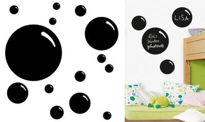 Bubbles Chalkboard Wall Decal