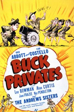 Buck Privates - Movie Poster Reproduction