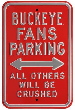 Buckeye Crushed Parking Steel Sign