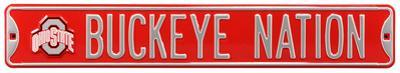 Buckeye Nation Ohio State Logo Steel Sign