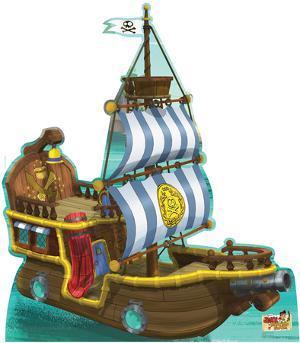 Bucky Pirate Ship - Jake and the Neverland Pirates Lifesize Cardboard Cutout