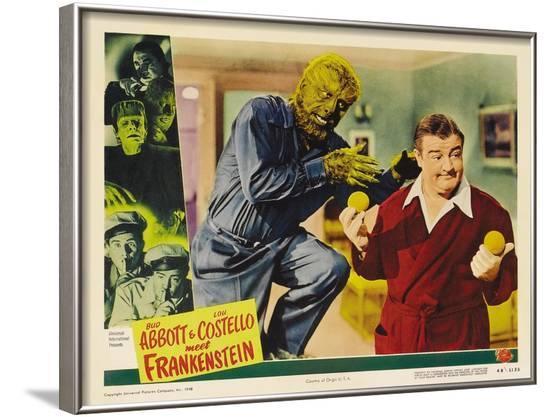 Bud Abbott Lou Costello Meet Frankenstein, 1948--Framed Art Print