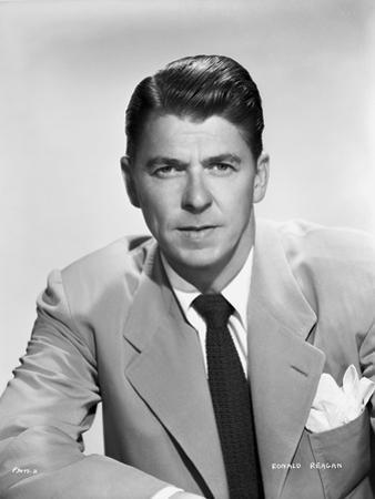 Ronald Reagan Posed in Suit and Tie by Bud Fraker