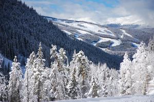 Ski Area from a Mountain Pass by budanatr