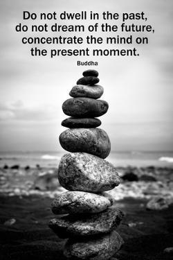 Buddha Focus Quotation Motivational Plastic Sign