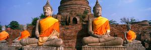 Buddha Statues Near Bangkok Thailand