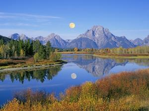 Full Moon Rising Over the Oxbow Bend by Buddy Mays