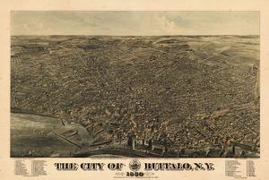Buffalo 1880 Bird's Eye View, New York, United States