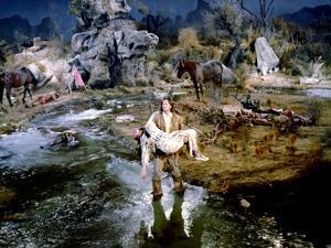BUFFALO BILL, 1944 directed by WILLIAM WELLMAN Linda Darnell and Joel McCrea (photo)