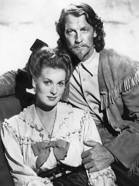 BUFFALO BILL, 1944 directed by WILLIAM WELLMAN Maureen O'Hara and Joel McCrea (b/w photo)