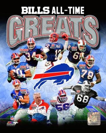Buffalo Bills All Time Greats Composite