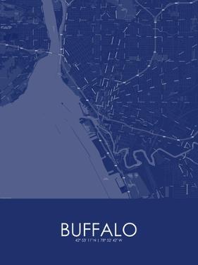 Buffalo, United States of America Blue Map